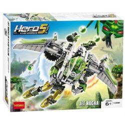 NOT Lego HERO FACTORY 44014 JET ROCKA Hero Factory Loca Reconnaissance Vehicle , DECOOL 10388 Xếp hình Anh Hùng Trang Bị Tên Lửa Bay Cá Nhân 290 khối