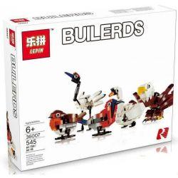 Lepin 36007 (NOT Lego Creator 4002014 Lego Hub Birds ) Xếp hình Bộ 3 Chú Chim 545 khối