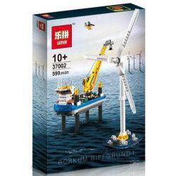 Lepin 37002 (NOT Lego City 4002015 Borkum Riffgrund 1 ) Xếp hình Giàn Khoan Dầu Và Tuabin Điện Gió Trên Biển 599 khối
