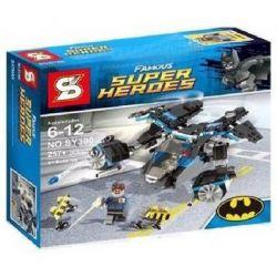 SHENG YUAN SY SY300 Xếp hình kiểu Lego DC COMICS SUPER HEROES The Bat Vs. Bane Tumbler Chase Batman Dark Knight Batman VS Bank Người Dơi Truy đuổi Gordon Bằng Phi Thuyền 368 khối