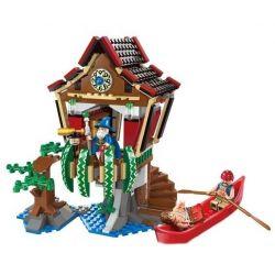 Enlighten 1309 Qman 1309 Xếp hình kiểu Lego PIRATES OF THE CARIBBEAN Legendary Pirates Legendary Pirate Magician Hut Ngôi Nhà Của Phù Thủy 506 khối