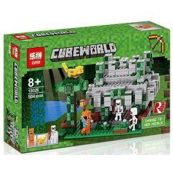 Bela 10623 Lari 10623 Decool 827 Jisi 827 LEPIN 18026 Xếp hình kiểu Lego MINECRAFT My World Jungle Temple Ngôi đền Trong Rừng 598 khối