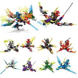 Sheng Yuan 626 SY626 (NOT Lego Ninjago Movie ) Xếp hình 8 Ninjago gồm 8 hộp nhỏ 369 khối