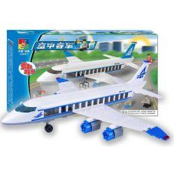 Woma J5667 (NOT Lego City 7893 Passenger Plane ) Xếp hình Máy Bay Chở Khách 434 khối