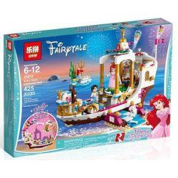 Bela 10891 Lari 10891 LELE 37062 LEPIN 25013 SHENG YUAN SY SY987 SX 3009 Xếp hình kiểu Lego DISNEY PRINCESS Ariel's Royal Celebration Boat Disney Mermaid Eli Royal Celebration Ship Du Thuyền Hoàng G