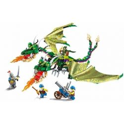 Enlighten 2311 Qman 2311 Xếp hình kiểu Lego NEXO KNIGHTS The War Of Glory Awakened Twin Dragon Glory Battle Double Dragon Awakening Rồng 2 đầu Tỉnh Giấc 469 khối