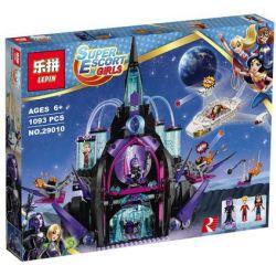 Bela 10691 Lari 10691 LEPIN 29010 Xếp hình kiểu Lego DC SUPER HERO GIRLS Eclipso Dark Palace Raw Dark Palace Lâu Đài Ma Thuật Của Eclipso 1078 khối