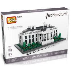 Loz 1013 Miniblock Architecture 21006 White House Xếp hình Nhà Trắng 588 khối