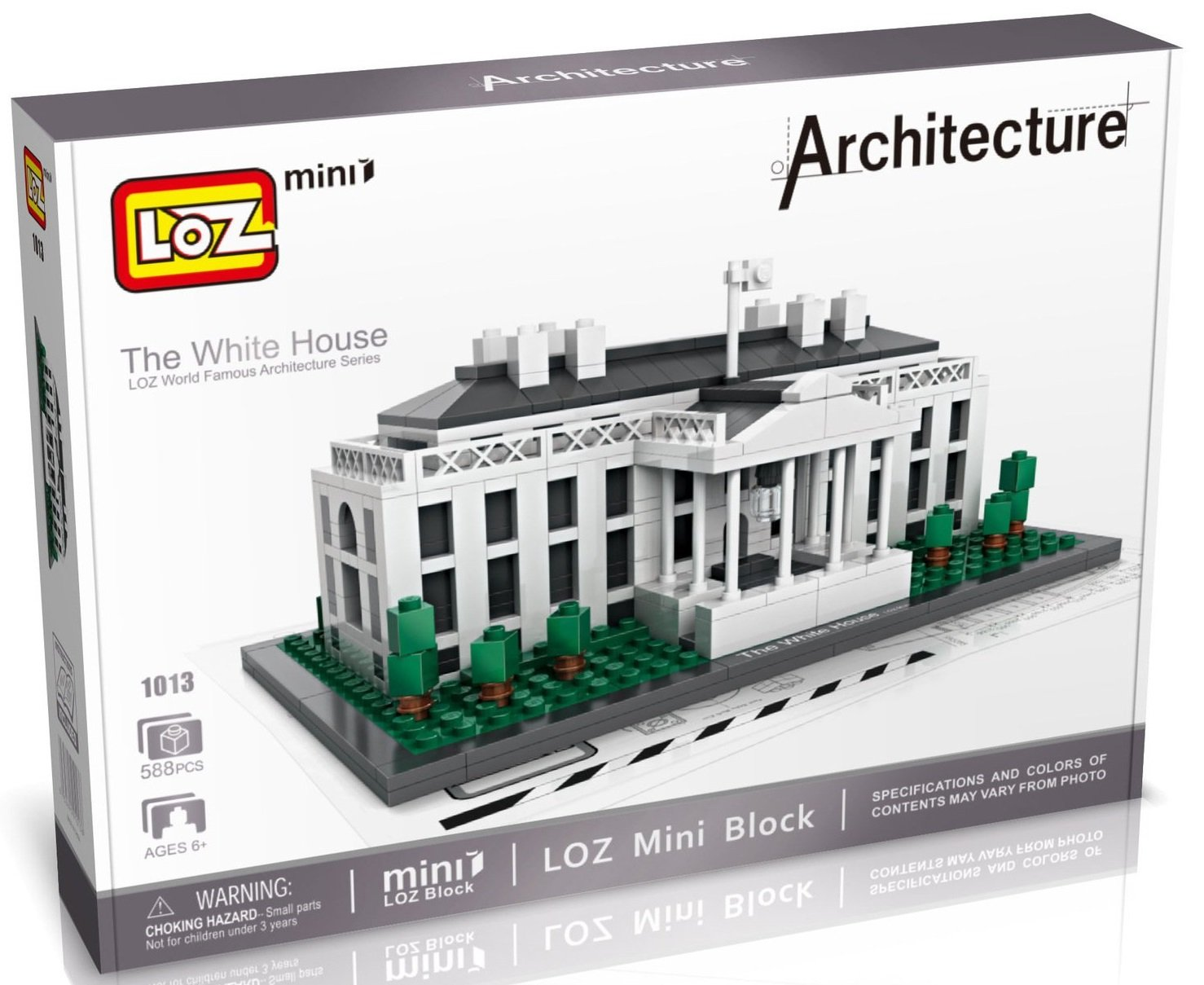 Loz 1013 Architecture 21006 White House Xp Hnh Nh Trng 588 Khi Lego The Gi R