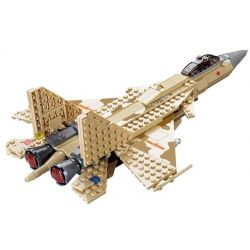 Kazi KY84021 84021 Xếp hình kiểu Lego FIELD ARMY Field Troops SU-27 Fighter Máy Bay Tiêm Kích Sukhoi Su-27 339 khối