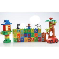 Aoleduotoys GM-5009 (NOT Lego Duplo Learning Alphabet ) Xếp hình Học Bảng Chữ Cái 108 khối