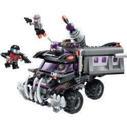 Enlighten 1614 Qman 1614 Xếp hình kiểu Lego SPACE ADVENTURE Space Adventure Cannon Armored Truck Starial Adventure Cannon Truck Xe Tải Bọc Thép Có Pháo 369 khối