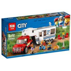Lepin 02093 Sheng Yuan 6964 SY6964 Bela 10871 (NOT Lego City 60182 Pickup & Caravan ) Xếp hình Xe Móc Lưu Động 385 khối