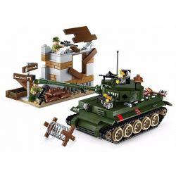 Enlighten 1711 Qman 1711 Xếp hình kiểu Lego TACTICAL ESPIONAGE ACTION Tactical Espionage Action Combat Zones Fire Battlefield Series Tank Counterattack Xe Tăng Vào Thành Phố 380 khối