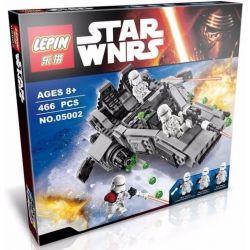 Bela 10576 Lari 10576 LEPIN 05002 Xếp hình kiểu Lego STAR WARS First Order Snowspeeder First Order Snow Speed Tàu Trượt Tuyết 444 khối