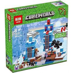 Bela 10621 Lari 10621 Decool 826 Jisi 826 LEPIN 18025 Xếp hình kiểu Lego MINECRAFT The Ice Spikes My World Icicles Cột Băng 454 khối