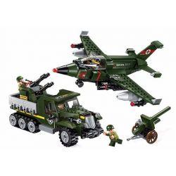 Enlighten 1710 (NOT Lego Military Army Ground Battle ) Xếp hình Bắn Hạ Máy Bay Oanh Kích 438 khối