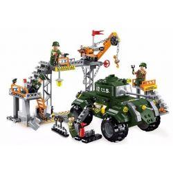 Enlighten 1712 Qman 1712 Xếp hình kiểu Lego TACTICAL ESPIONAGE ACTION Tactical Espionage Action Combat Zones Fire Battlefield Series Military Maintenance Factory Nhà Máy Sửa Chữa Thiết Bị Quân Sự 396