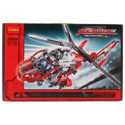 Decool 3355 (NOT Lego Technic 8068 Rescue Helicopter ) Xếp hình Máy Bay Trực Thăng Cứu Nạn Buồng Lái Nhọn (Mẫu 1) 408 khối