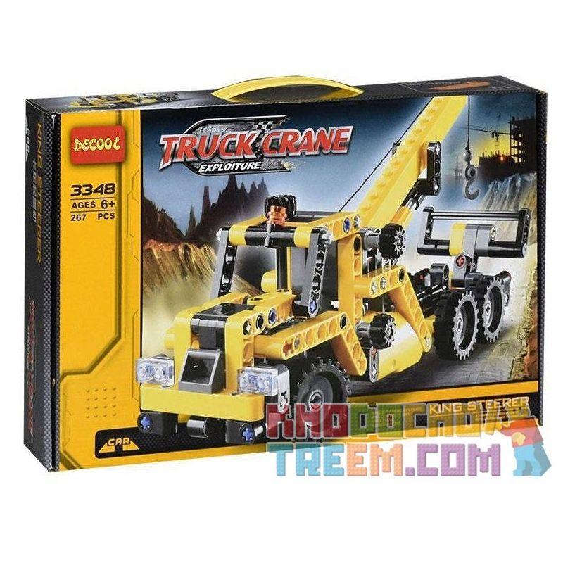 Decool 3348 (NOT Lego Technic 8067 Mini Mobile Crane ) Xếp hình Xe Tải Có Cần Trục (Mẫu 1) 292 khối