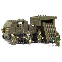 SLUBAN M38-B0303 B0303 0303 M38B0303 38-B0303 Xếp hình kiểu Lego LAND FORCES 2 Army Force II Guardian Rocket Xe Tải Chở Pháo 314 khối