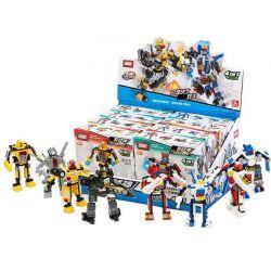 GUDI 8707 Xếp hình kiểu Lego POWER RANGERS SUPER SENTAI Super Sentai đại Chiến Robot Biến Hình 8 Trong 1