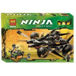 Bela 9759 (NOT Lego Ninjago Movie 9444 Cole's Tread Assault ) Xếp hình Xe Địa Hình Của Cole 286 khối