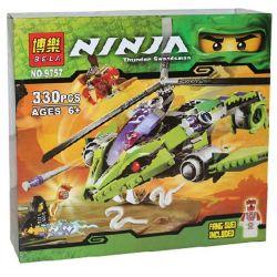 Bela 9757 (NOT Lego Ninjago Movie 9443 Rattlecopter ) Xếp hình Trực Thăng Mãng Xà 330 khối