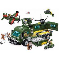 Enlighten 1709 Qman 1709 Xếp hình kiểu Lego TACTICAL ESPIONAGE ACTION Tactical Espionage Action Combat Zones Fire Battlefield Series Armored Car Tấn Công Xe Bọc Thép 446 khối