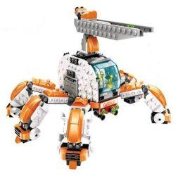 WANGE DR.LUCK 55172 Xếp hình kiểu Lego ADVANCED MILITARY Superfine Military Pretend Robot Nhiều Chân 1 Người điều Khiển 441 khối