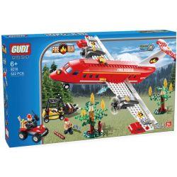 Xinlexin Gudi 9216 (NOT Lego City Fire Plane ) Xếp hình Máy Bay Cứu Hỏa Chữa Cháy Rừng 522 khối