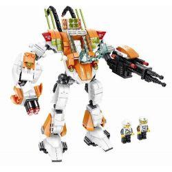 WANGE DR.LUCK 55171 Xếp hình kiểu Lego ADVANCED MILITARY Superfine Military Fighter Robot Người Máy 1 Người điều Khiển 412 khối