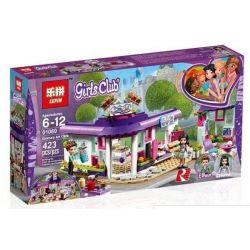 Bela 10856 Lari 10856 LEPIN 01060 Xếp hình kiểu Lego FRIENDS Emma's Art Café Good Friend Emma's Art Cafe Quán Cà Phê Nghệ Thuật Của Emma 378 khối