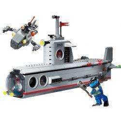 Enlighten 816 Qman 816 Xếp hình kiểu Lego MILITARY ARMY CombatZones Submarine Tàu Ngầm Tác Chiến Cùng Tàu Lặn Cá Nhân 3 Trong 1 382 khối