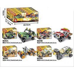 SHENG YUAN SY 1039 1039A 1039B 1039C 1039D SY1039 1039 Xếp hình kiểu Lego PUBG BATTLEGROUNDS Jedi Survival Off-road Vehicle 4 4 Xe ô Tô Chiến đấu gồm 6 hộp nhỏ 579 khối