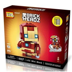 LOZ 1402 Xếp hình kiểu Nanoblock BRICKHEADZ Iron Man Người Sắt 144 khối