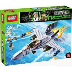 GUDI 600031A 6018 Xếp hình kiểu Lego MILITARY ARMY 武装突袭:f18大黄蜂重型战斗机 Máy Bay Chiến đấu F-18 gồm 2 hộp nhỏ 284 khối