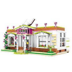XINGBAO XB-12003 12003 XB12003 Xếp hình kiểu Lego CityGirl Rainbow Library City Girl Thư Viện ở Trường Học Campus 696 khối