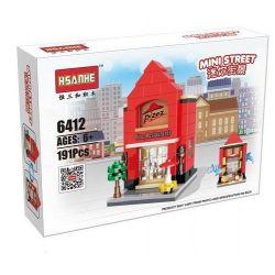 HSANHE 6412 Xếp hình kiểu Lego MINI MODULAR Pizza Restaurant Cửa Hàng Bánh Pizza 191 khối