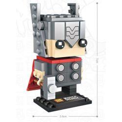 Loz 1423 Mini block BrickHeadz Thor Xếp hình 149 khối