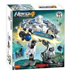 Decool 10088 Jisi 10088 Xếp hình kiểu Lego HERO FACTORY STORMER XL Hero Factory Strike XL Chiến Binh Xung Kích 89 khối