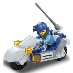 Sluban M38-B0329 (NOT Lego SWAT Special Force Special Forces Motorcycle ) Xếp hình Mô Tô Lực Lượng Đặc Nhiệm 32 khối