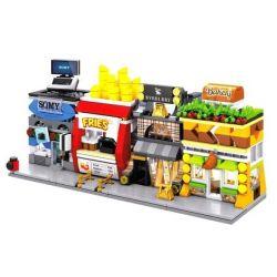 SEMBO SD6062 6062 SD6063 6063 SD6064 6064 SD6065 6065 Xếp hình kiểu Lego MINI MODULAR Sembo Block Sembo Block Bakery Sembo Block Fries Mini Street View Clothing Store Mini Street View Computer Mall Mi