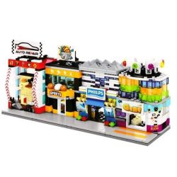 SEMBO SD6058 6058 SD6059 6059 SD6060 6060 SD6061 6061 Xếp hình kiểu Lego MINI MODULAR Sembo Block Sembo Block Auto Repair Sembo Block Game Sembo Block Sports Mini Street View Sporting Goods Shop Mini