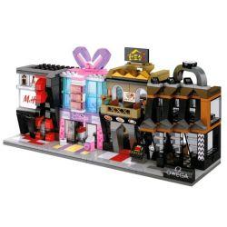Sembo SD6042 SD6043 SD6044 SD6045 (NOT Lego Mini Modular Omega H&m Beauty Center Japanese Resto Set ) Xếp hình Hệ Thống Cửa Hàng Làm Đẹp Omega H&m gồm 4 hộp nhỏ lắp được 4 mẫu 474 khối