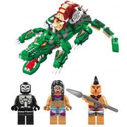 Enlighten 1310 Qman 1310 Xếp hình kiểu Lego PIRATES OF THE CARIBBEAN Legendary Pirates Legendary Pirate Crocodile Xuồng Máy Cá Sấu 538 khối