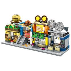 SEMBO SD6088 6088 SD6089 6089 SD6090 6090 SD6091 6091 Xếp hình kiểu Lego MINI MODULAR Sembo Block Mini Street View Tyrannosaurus Glasses Mini Street View Egg Tart Shop Mini Street View Ferrero Chocola