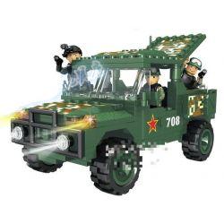 Woma C0708 (NOT Lego Military Army Suv ) Xếp hình Ô Tô Suv 262 khối