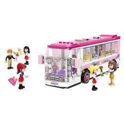 XINGBAO XB-12005 12005 XB12005 Xếp hình kiểu Lego CityGirl Happy Bus City Girl Campus Bus Xếp Hình Các Cô Gái Và Chiếc Xe Bus Tại Trường Học Campus 402 khối