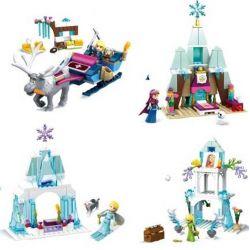 SHENG YUAN SY 843 SY843 Xếp hình kiểu Lego DISNEY PRINCESS Frozen 4 In 1 Elsa Anna Christopher Nữ hoàng băng giá 4 trong 1 gồm 2 hộp nhỏ 467 khối